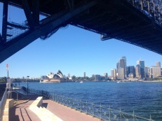 Sydney Opera House looking under the bridge