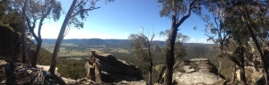 View above the crags at Mt York.